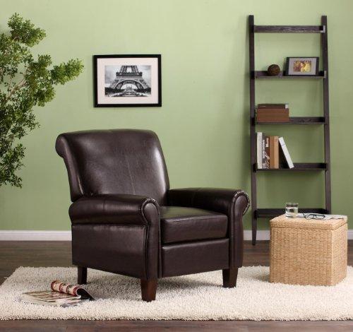 - Dorel Living Elegant Faux Leather Club Chair