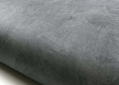 ROSEROSA Peel and Stick Flame Retardation PVC Faux Concrete Instant Self-Adhesive Covering Countertop Backsplash Gray (FDM224 : 2.00 Feet X 6.56 Feet) (Faux Backsplash Roll)