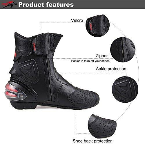 LKN Stivali protettivi per caviglie per motociclisti equipaggiamento protettivo per corse in moto