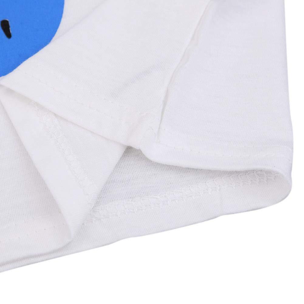 Silveroneuk Cartoon Boys Girls Kids Short Sleeve Summer Casual T-Shirt Cotton Tops