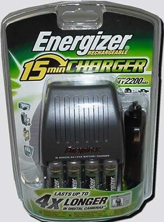 Energizer 15 Minutos de Cargador para AA + Pilas AAA: Amazon ...