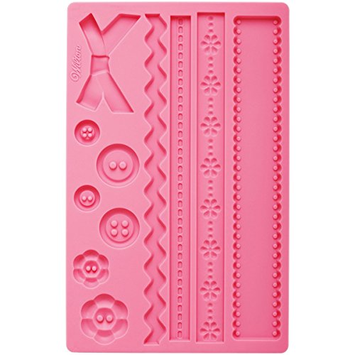 (Wilton Silicone Ribbon and Fabric Fondant and Gum Paste Mold - Cake Decorating)