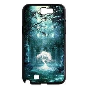 LZHCASE Diy Design Back Case Fantasy Fairy Tale for Samsung Galaxy Note 2 N7100 [Pattern-1]