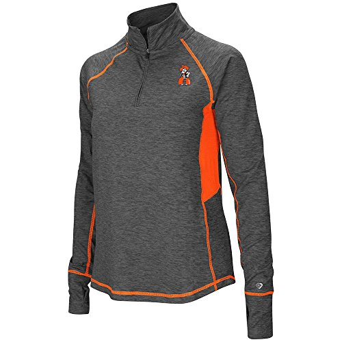 Embroidered Long Sleeve Oklahoma (Womens Oklahoma State Cowboys Quarter Zip Pull-over Long Sleeve Shirt - XL with Personalized Name Embroidered)