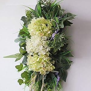 YBZS Spring Flower Wreath,Rustic Vintage Artificial Flower Set Threshold Front Door Wreath,for Front Door Wall Window Party,