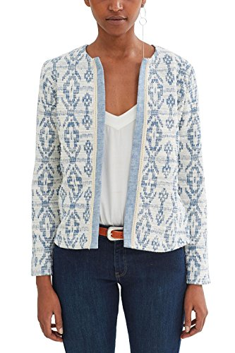 edc by Esprit 047cc1g007, Chaqueta para Mujer Multicolor (Bright Blue)