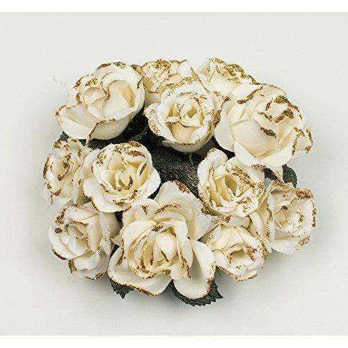 Christmas rose candela anello crema per candele da cena 2, 5cm swerox
