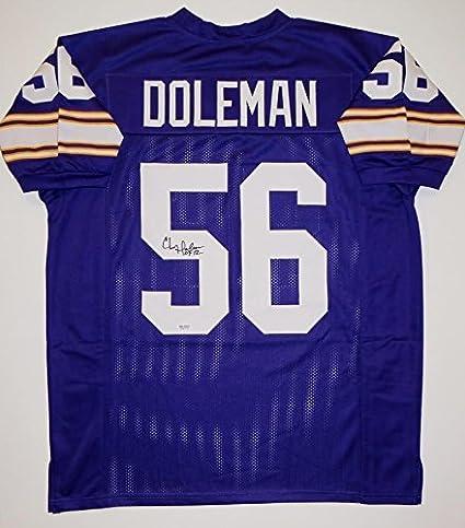reputable site 5834d ebcfe Chris Doleman Signed Jersey - Purple Pro Style HOF SGC ...
