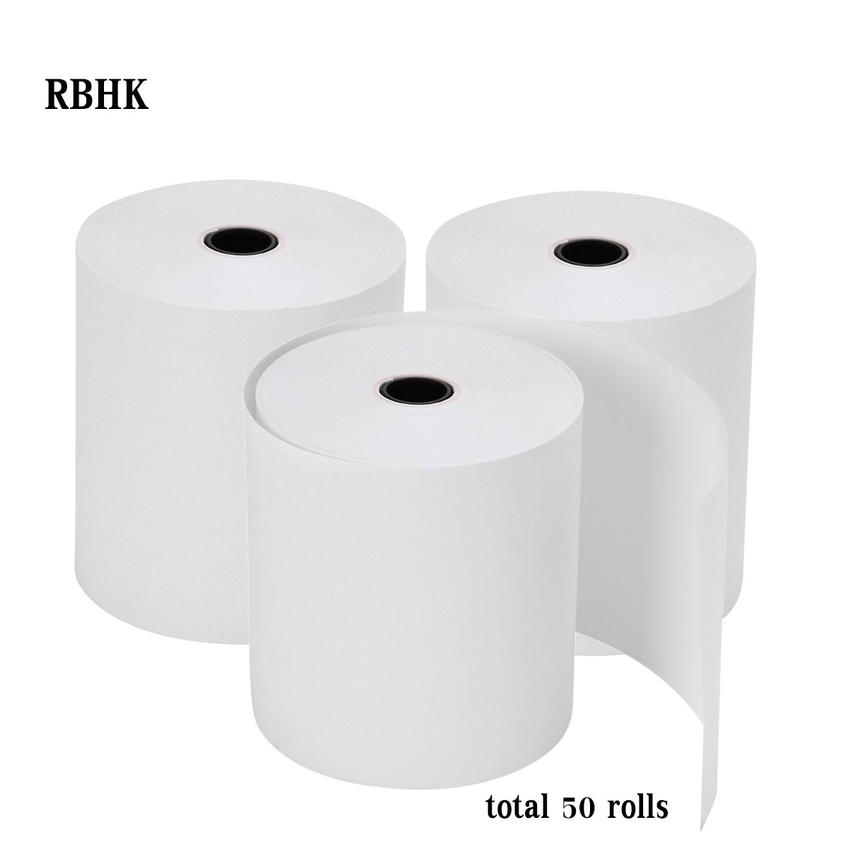 RBHK 2 1/4'' x 50' Thermal Receipt Paper, Cash Register POS Paper Roll, 50 Rolls Total by RBHK (Image #2)