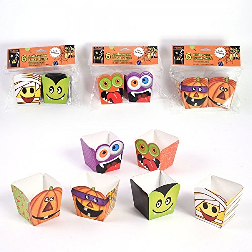 Halloween Smiley Faces Treat Cups by FLOMO