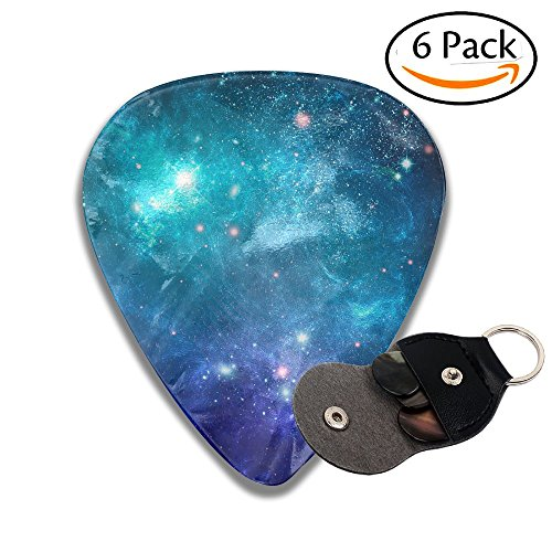 Guitar Picks Plectrums 6-pack 0.46mm / 0.71mm / 0.96mm Galaxy Nebula Space Stylish Celluloid Bass Ukulele