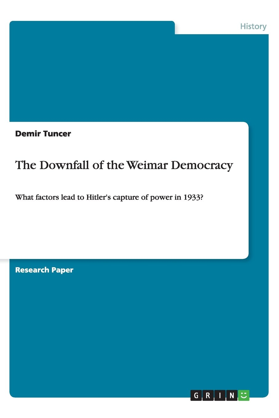 Read Online The Downfall of the Weimar Democracy pdf