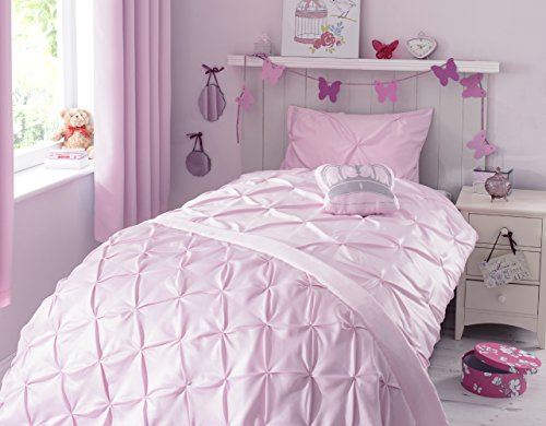 ZIGGUO Kids Duvet Cover Set Pinch Pleat Pintuck Diamond Pattern Children Bedding Set- Twin 69