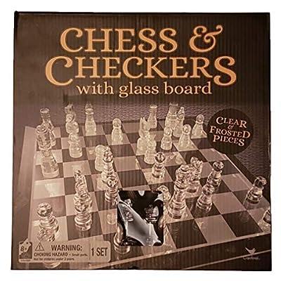 チェスとチェッカーガラスボード: Toys & Games