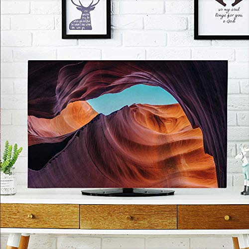 """aolankaili Cord Cover for Wall Mounted tv American Antelope Canyon Cover Mounted tv W32 x H51 INCH/TV 55"""""""