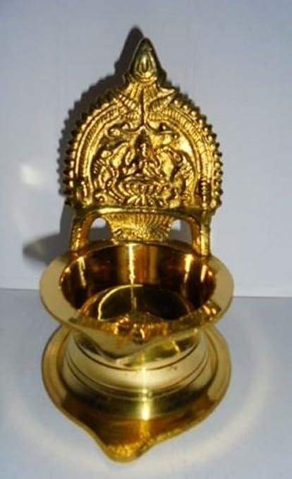 NOBILITY Brass Aarti Pooja Diwali Diya Oil Lamp for Hindu Puja Home D/écor Gift