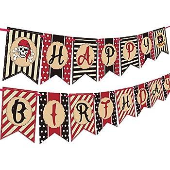 Amazon.com: 12 ft Foil Partido Pirata Feliz cumpleaños ...