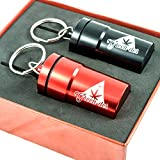 weed vacuum - Cool Set of 2 Smell-Proof Airtight Stash Jars, Waterproof Containers for Weed, Herbs and Tobacco with Keychain and Gift Box, Perfect as Secret Mini Travel Stash Box, Black, and Red by Green-Der