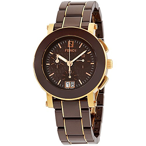 Fendi Womens Brown dial, ceramic bracelet watch F674120XG (Certified - Brown Fendi