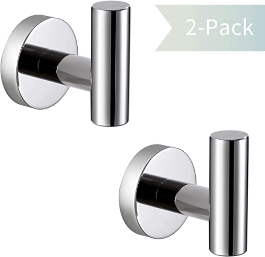 Hardware Velimax 18 8 Stainless Steel 2 Packs Bath Towel Hook Double Robe Hook Round Hooks Wall Mounted Coat Hooks For Bathroom Kitchen Brushed Gold Finish Tools Home Improvement Credai Surat Com