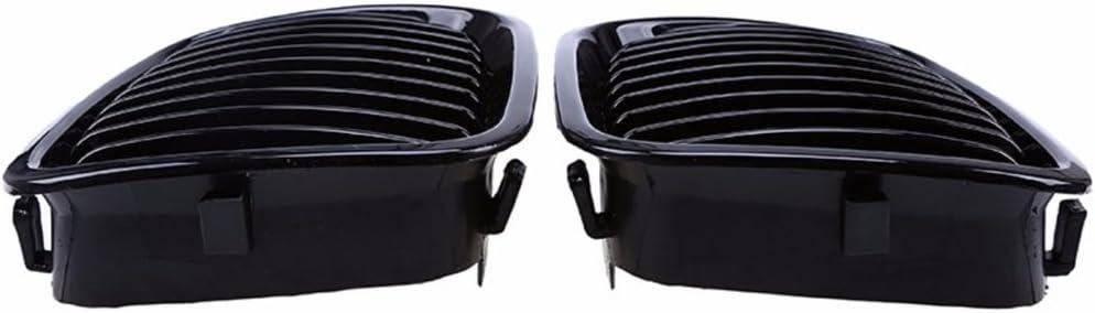 Guangcailun 1 Paar Gloss Black ierengitter Grill f/ür 3er E46 4 T/ür-Limousine 1998-2001