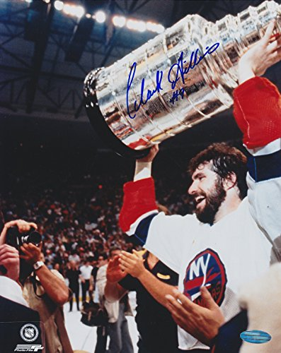 CLARK GILLIES #9 SIGNED 8x10 STANLEY CUP STEINER SPORTS PHOTO w/COA NY ISLANDERS