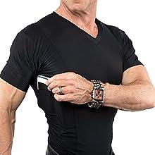 Travel Safe Men's V-Neck Shirt (Small, White)