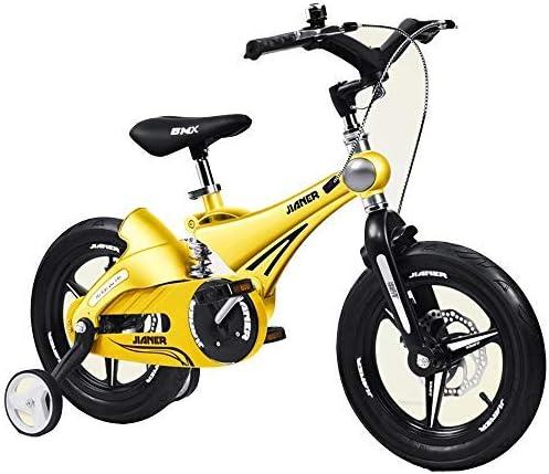 YSA キッズバイクキッズバイク、2-8歳の男の子と女の子の自転車、マグネシウム合金フレームディスクブレーキトレーニングホイール付き12 14 16インチバイク