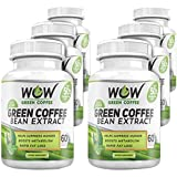 Wow Green Coffee Weight Management Supplement with 800 mg GCA - 60 Capsules (Pack of 6)
