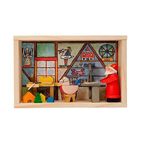 Pinnacle Peak Trading Company Santa Workshop German Wood Christmas Miniature Erzgebirge Matchbox Made Germany - German Workshop