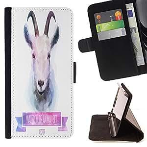 Jordan Colourful Shop - FOR Samsung Galaxy S3 MINI 8190 - Cute little goat - Leather Case Absorci¨®n cubierta de la caja de alto impacto