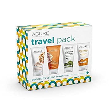 ACURE Essentials Travel Size Kit, Shampoo, Conditioner, Day Cream and  Facial Scrub ( bb7db4ccdc9