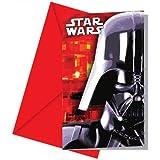 lot de 6 cartes d'invitation star wars