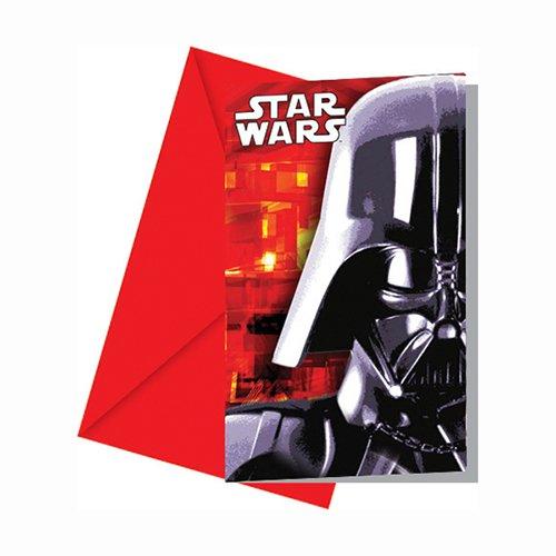 Lot de 6 Cartes d'invitation Star Wars PROCOS 71978