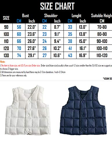 Waistcoat Down Vest BESBOMIG fit Light Warm Child Lightweight Cotton Slim Outwear Blue Jacket Boys Gilet for Girls Casual Sleeveless xwwf7ng