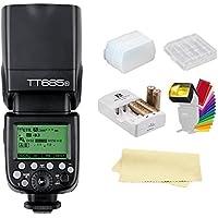 Godox Thinklite TT685N TTL I-TTL 2.4GHz GN60 High Speed Sync 1/8000s Wireless Master Slave Camera Flash Speedlite Speedlight Compatible Nikon Cameras+44AA Batteries&Charger