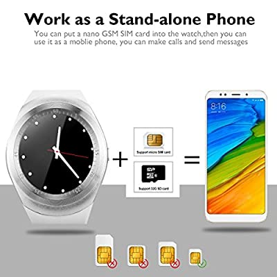 Bluetooth Smart Watch Touch Screen Waterproof Smartwatch Unlocked Phone Smart Wrist Watch With Sim Card Slot Sports Smart Watches For Android Smartphone Samsung IOS Iphone 6s 7 8 X Sony Men Women Kids
