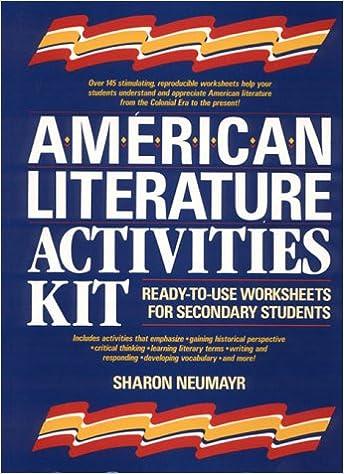 Amazon American Literature Activities Kit Ready To Use