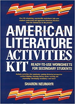 Printables American Literature Worksheets amazon com american literature activities kit ready to use worksheets for secondary students