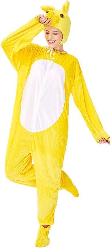 Soft Fancy Dress Unisex Cosplay Suit Adult Hooded Pyjamas Animal Sleepwear UK