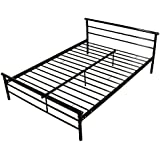 WALCUT Heavy Duty Bed Frame Full Size, Metal Frame Bed with Headboard, Steel Slat Bed Platform Mattress Support Foundation, No Box Spring Needed
