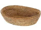 KOUBOO La Jolla Rattan Bread Bowl, Honey Brown