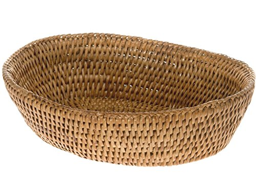 Honey Rattan (KOUBOO 1020034 La Jolla Rattan Bread Bowl, Honey Brown, 9.5