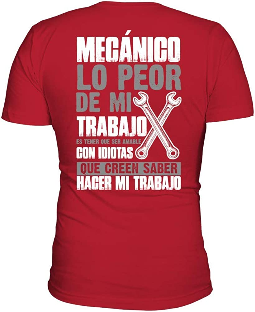 TEEZILY Camiseta Hombre 1708tbn-MECANICO: Amazon.es: Ropa y accesorios