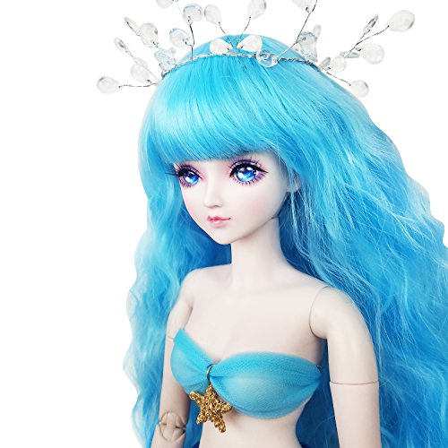 22inch Mermaid Fish,Full Set Doll 1/3 BJD Doll 56cm Ball Jointed Dolls Toy + Makeup + Full Set by EVA BJD (Image #2)