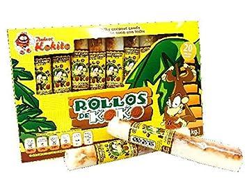 Rollos de Coco Dulces Kokito 20 count