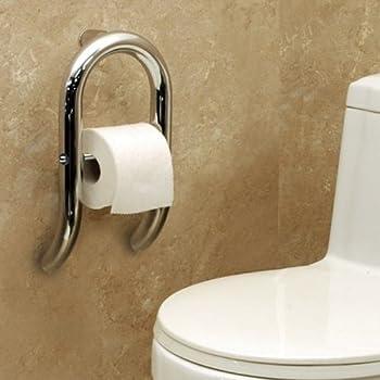 Amazon.com: Invisia Toilet Paper Dispenser and Integrated Support ...
