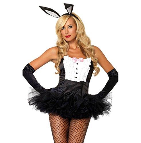 Sexy Tuxedo Bunny Bustier Corset Top Rabbit - Halloween Costume
