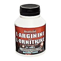 HealthAid L-Arginine with L-Ornithine 300mg - 60 Tablets