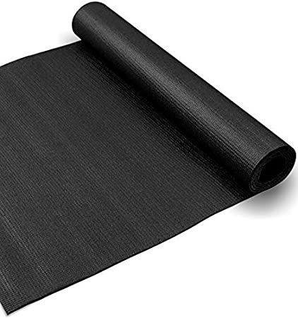 4mm Extra Thick Light Weight Portable Comfortable Spacious Textured Yoga Mat Extra Wide 28x72 Inches black